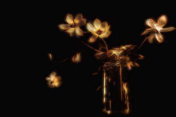 Glühende Blumen... von Ton de Jong