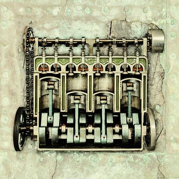 Het vintage Motorblok van Martin Bergsma