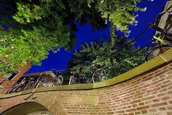 De Magdalenabrug over de Nieuwegracht in Utrecht (1) van Donker Utrecht