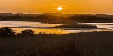 Zonsondergang boven de Kroon's Polders van Joop Gerretse