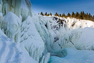 Bevroren waterval van