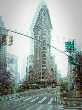 New York Art Flat Iron Building van Gerald Emming