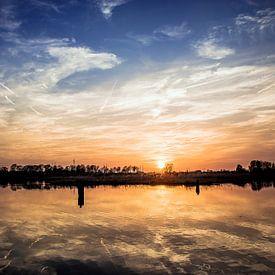 zonsondergang in Terborg aan de oude IJssel in de Achterhoek van Edwin Hunter