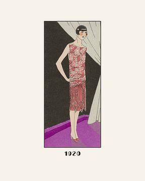1920 | Nacht uit Art Deco stijl | Art Deco Mode prent van NOONY