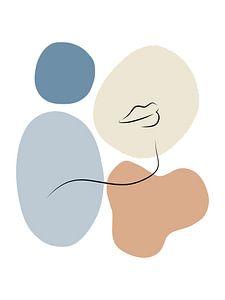 Her - Abstrakter Druck mit weichen Farben