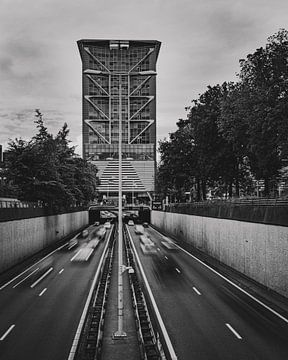 A12 La Haye en noir et blanc sur Chris Koekenberg