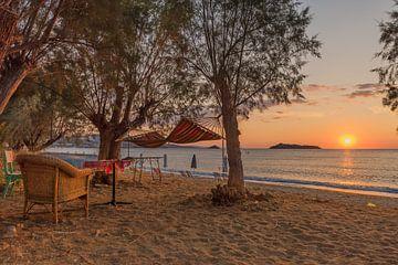 Strand mit Sonnenuntergang - Lesbos von Rinus Lasschuyt Fotografie