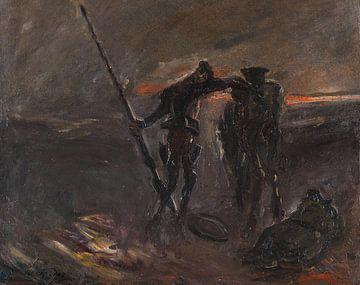 Don Quixote - Nachtwache (Don Quijote und Rosinante), MAX SLEVOGT, 1908