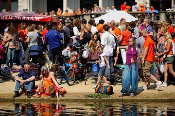 Vondelpark in Amsterdam tijdens Koninginnedag van