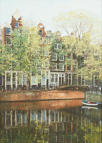 Schilderij: Brouwersgracht, Amsterdam van Igor Shterenberg