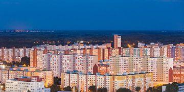 Wohnblocks im Stadtteil Petrzalka in Bratislava von Werner Dieterich