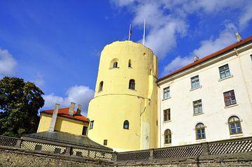 Riga, toren aan kade centrum von Maarten  van der Velden