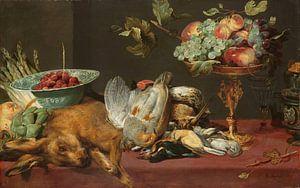 Frans Snijders, Stilleven met klein dood wild en vruchten