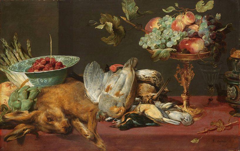 Frans Snijders, Stilleven met klein dood wild en vruchten van Meesterlijcke Meesters