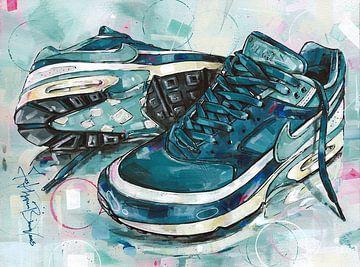 Nike Air Classic BW Marine Blau Malerei von Jos Hoppenbrouwers
