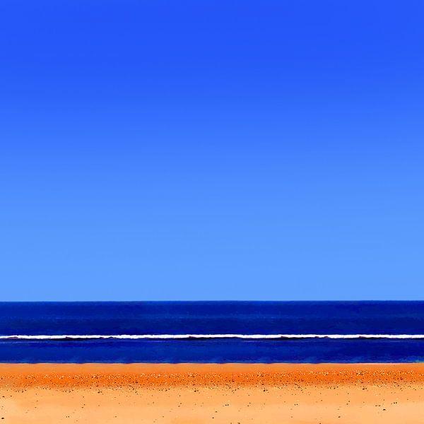 Colorful Beach #101 van Theo van der Genugten