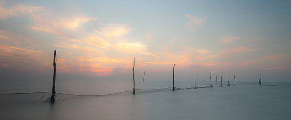 Zonsondergang IJsselmeer van Piet Haaksma
