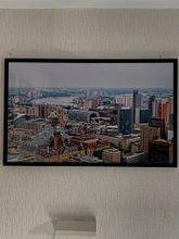 Klantfoto: Skyline van Rotterdam van MS Fotografie | Marc van der Stelt, op ingelijst