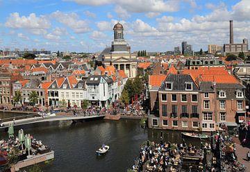 Stadsgezicht Leiden van Jan Kranendonk