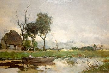 Herfst landschap -Jan Hendrik Weissenbruch -c-1870 van Nisangha Masselink