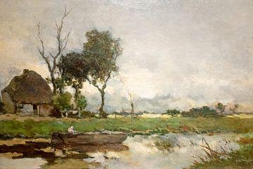 Herfst landschap -Jan Hendrik Weissenbruch -c-1870 sur Nisangha Masselink