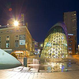 Panorama Centrum Eindhoven in de nacht van Anton de Zeeuw