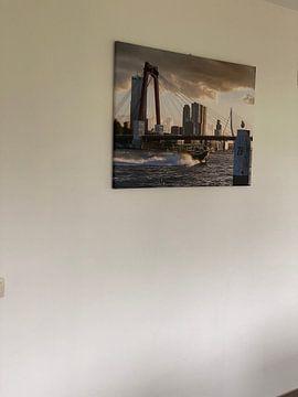 Kundenfoto: Rotterdam, die Maas und das Watertaxi im Sonnenuntergang von Prachtig Rotterdam