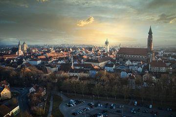 Wunderschönes Abendlicht in der Stadt Straubing von Thilo Wagner