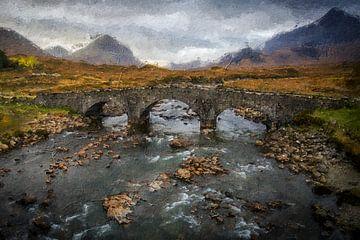 Landschap Schotland van Digitale Schilderijen