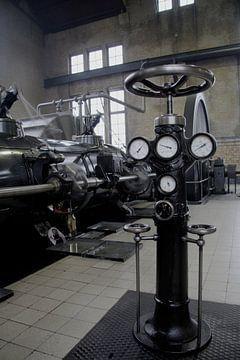 Stoommachine in bedrijf van Saskia Vader