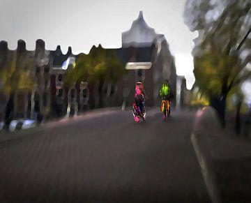 Amsterdam op de Fiets / Amstelbruggetje van Fons Bitter