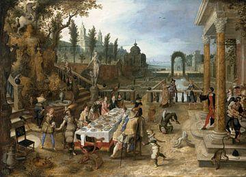 Un banquet en plein air, Sebastiaen Vrancx sur