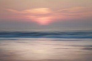 Abstracte zonsondergang Scheveningen van