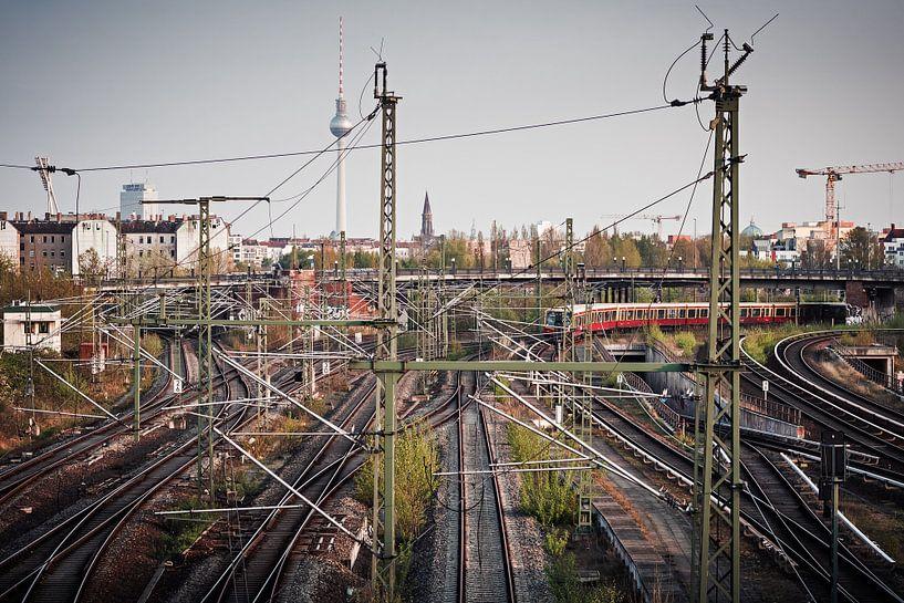Berlin – S-Bahn-Skyline van Alexander Voss