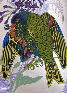 Art Nouveau vogel van
