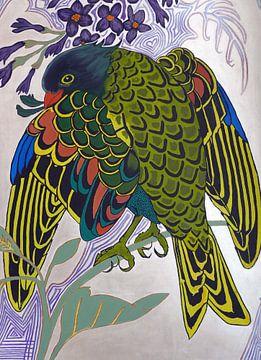 Art Nouveau vogel von Ria Butter - Gotje