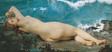 Die nackte Perle und die Welle, Paul Baudry - 1862 von Atelier Liesjes