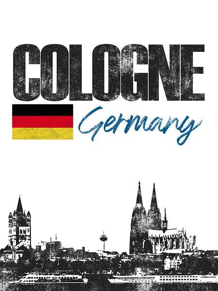 Keulen Duitsland van Printed Artings
