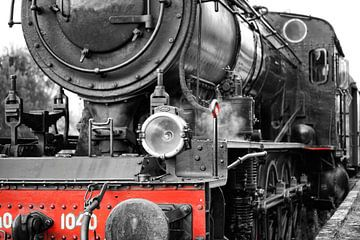 Schöne Dampflokomotive in schwarz und rot von Foto Graaf Eric