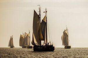Klipperrace op het IJsselmeer