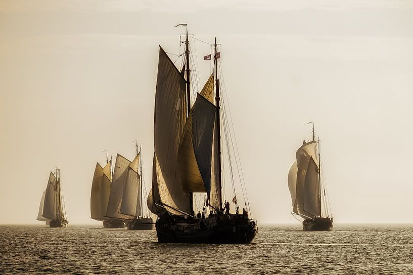 Klipperrace op het IJsselmeer van Elly van Veen