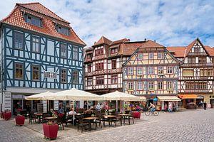 Marktplein in de historische binnenstad van Schmalkalden van Heiko Kueverling