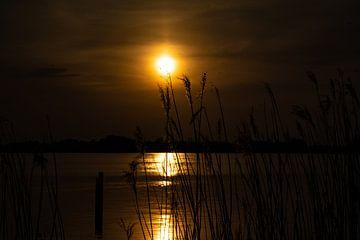 Sonnenuntergang am Wasser. von Jeroen Lugtenburg