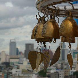 Bells above Bangkok van bird bee flower and tree