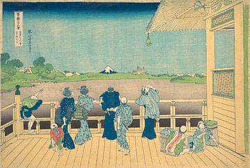 Sazai-Saal im Tempel der fünfhundert Arhats, Katsushika Hokusai