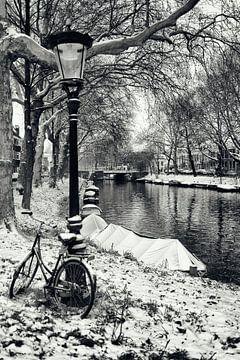 Straatfotografie in Utrecht. De Stadsbuitengracht ter hoogte van deBegijnekade in Utrecht.  (Utrecht van De Utrechtse Grachten