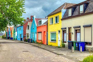 Kleurrijke straat in Roosendaal van W J Kok