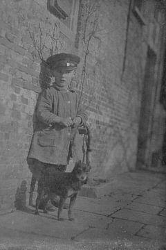 jongen met hond van