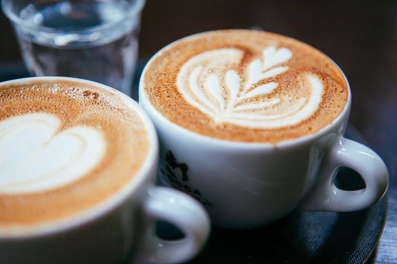 Latte Art - Cappuccino  sur Pieter Wolthoorn