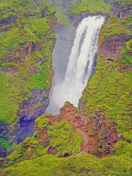 IJsland: Skógafoss waterval nummer tien